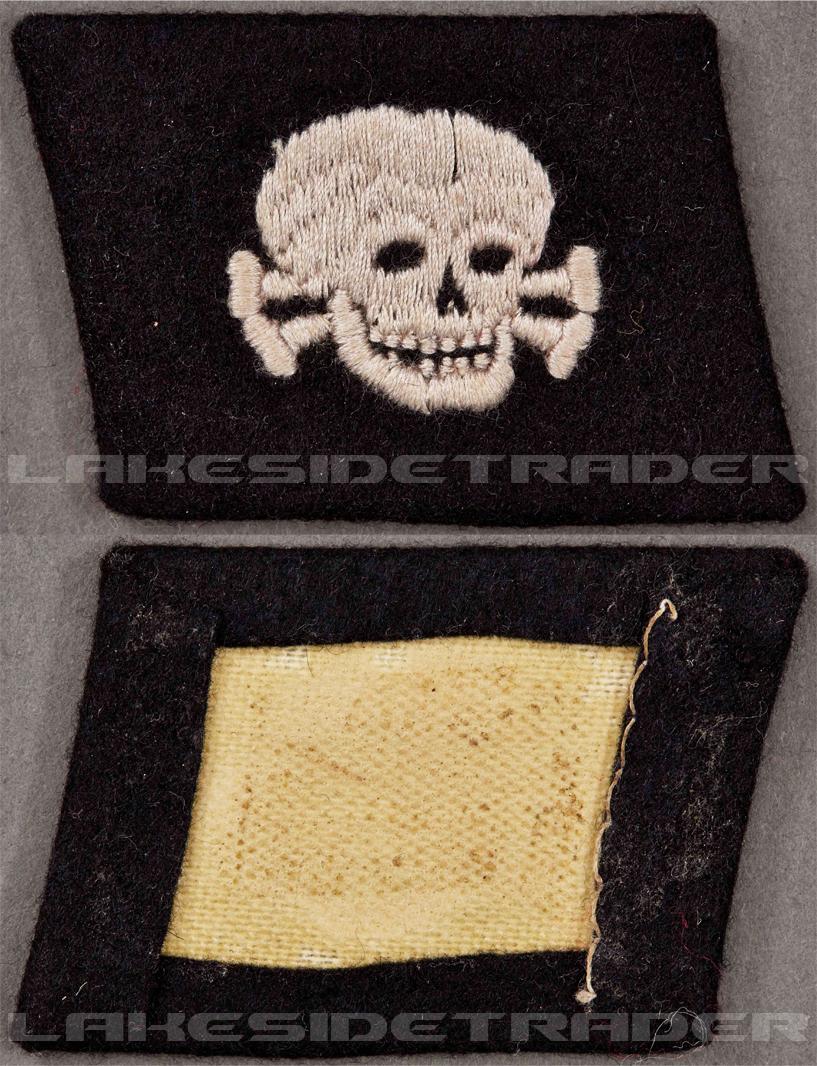 """Pumpkin Head"" - 3rd SS Panzer Division Totenkopf Collar Tab"