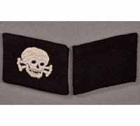 Matching Set of Totenkopf Collar Tabs