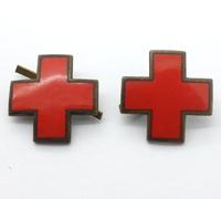 Red Cross Collar Tab Insignia