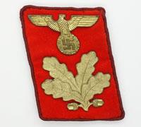 Tagged NSDAP Reich-Level Befehlsleiter Collar Tab