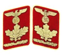 Tagged - NSDAP Reichs Level OberDienstLeiter Collar Tabs