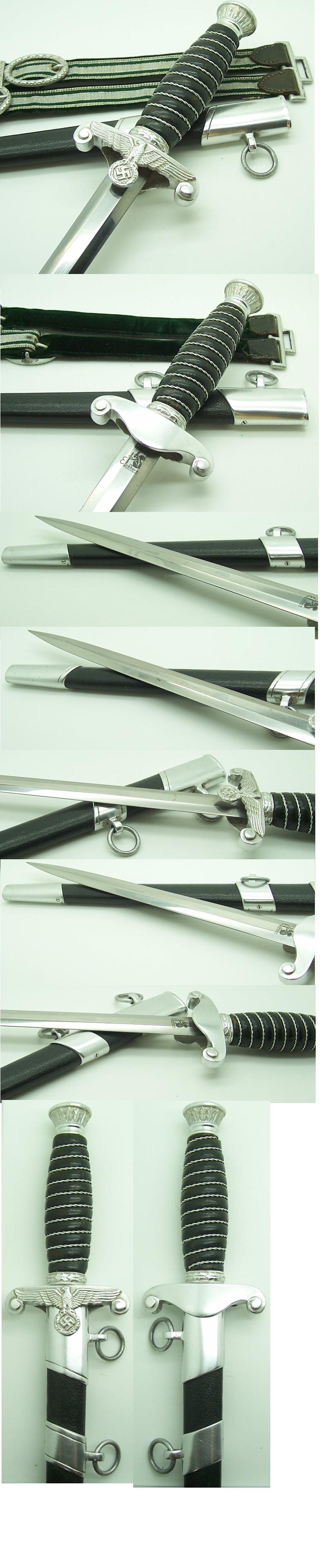 Land Customs Dagger with hangers by Eickhorn