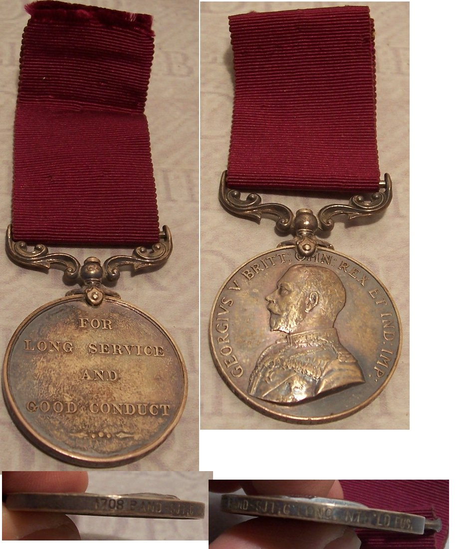 Army Long Service and Good Conduct 3rd type  George V