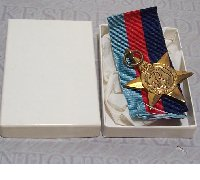 1939-1945 Star in issue case