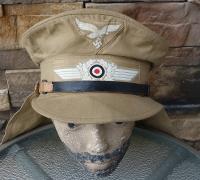"""Luftwaffe Tropical """"Hermann Meyer"""" Type EM's Service Cap"""