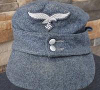 Reinactor M43 Luftwaffe Field Cap