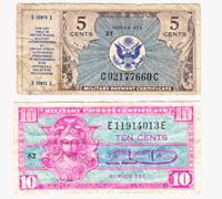 USA 5 & 10 cent Military Payment Certificates