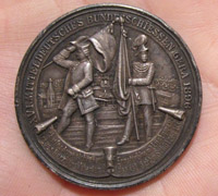 German Silver Shooting Protection Medal 1896