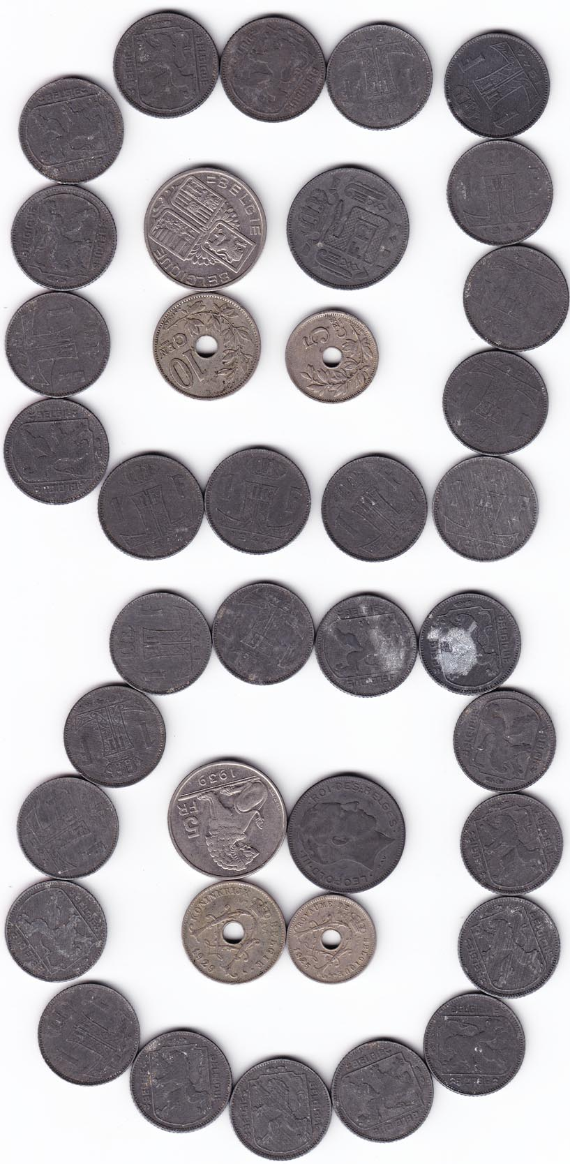19pc Belgique Coin Grouping