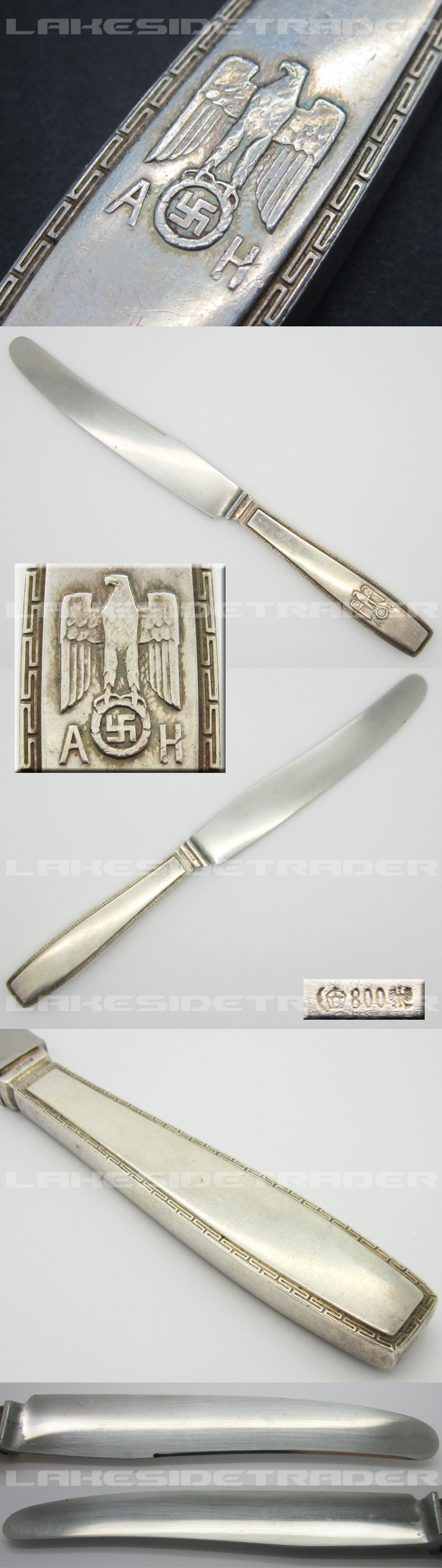 Adolf Hitler Formal Pattern Large Dinner Knife