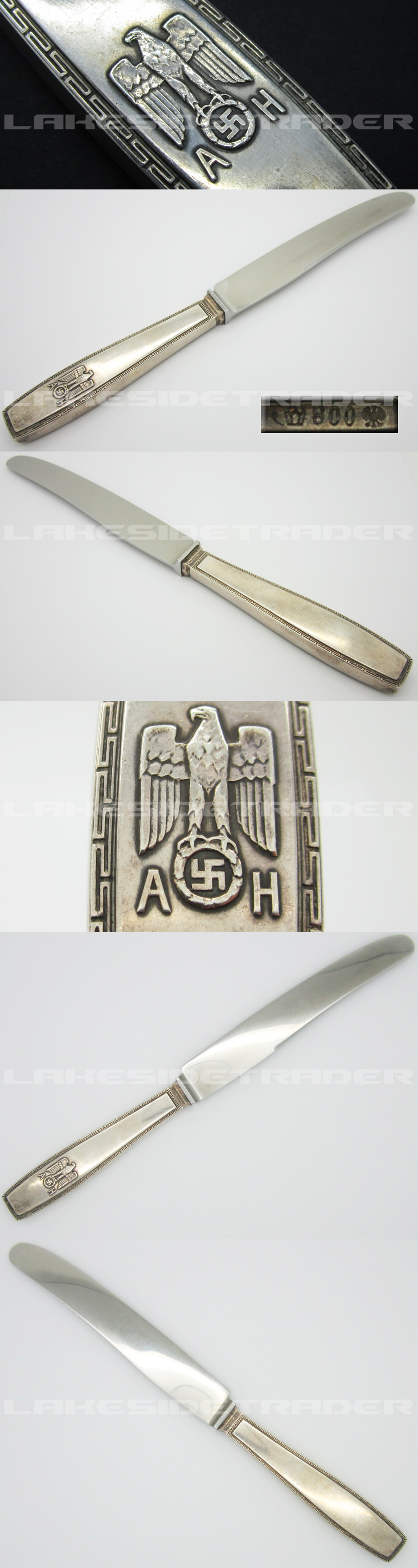 Adolf Hitler Formal Pattern Large Dinner Knife