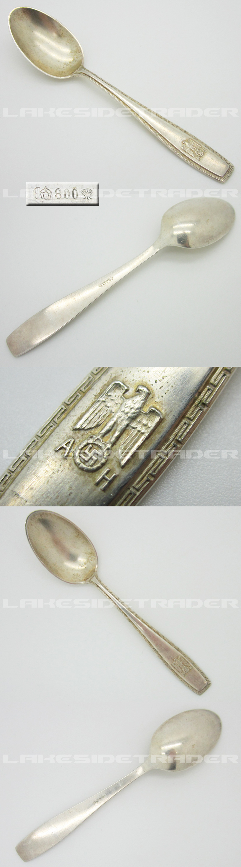 Adolph Hitler Formal Pattern Demitasse Spoon