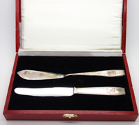 Adolf Hitler Formal Pattern Butter & Luncheon Knives