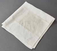 Adolf Hitler Formal Floral & Ribbon Pattern Napkin