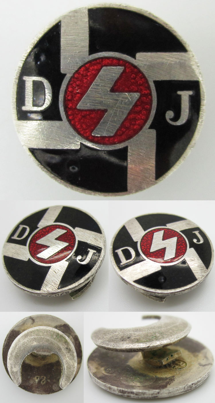 DJ membership buttonhole badge for review - Wehrmacht-Awards