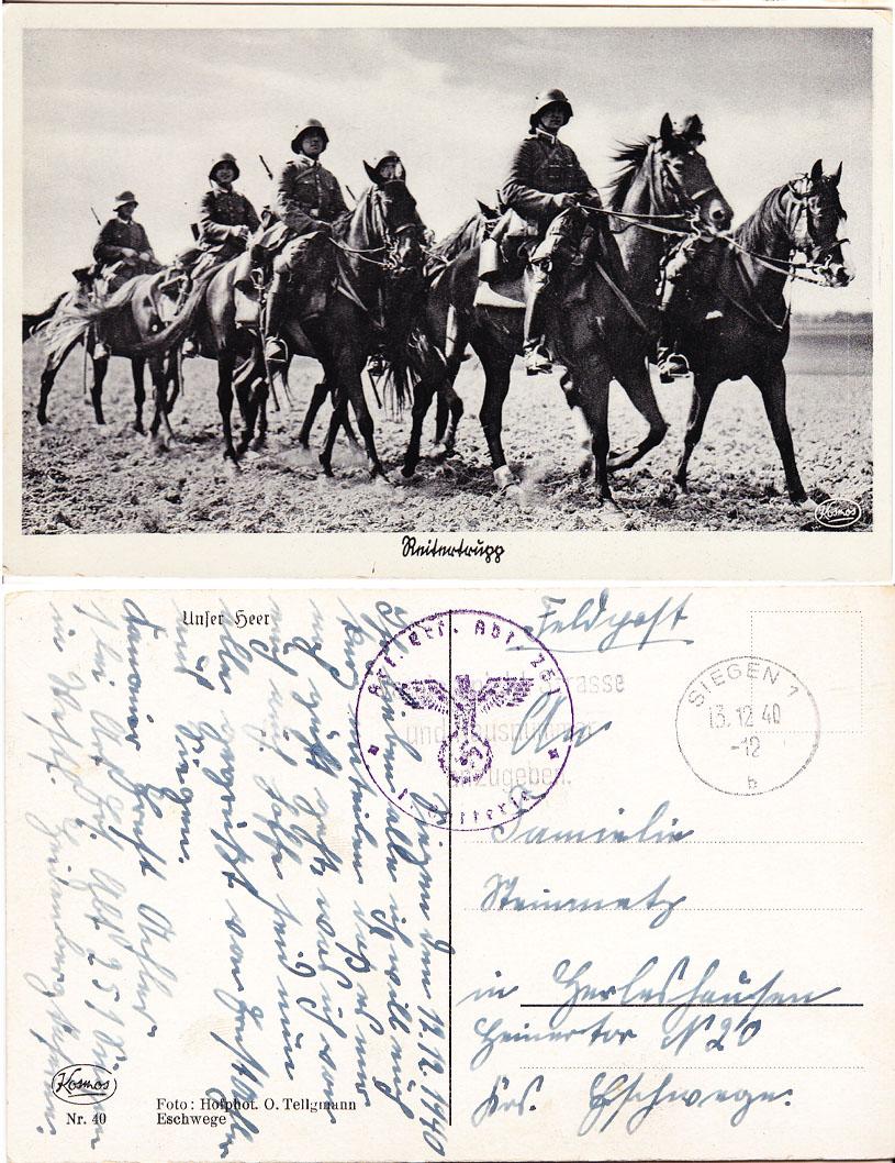 Six Men on Horses Postcard