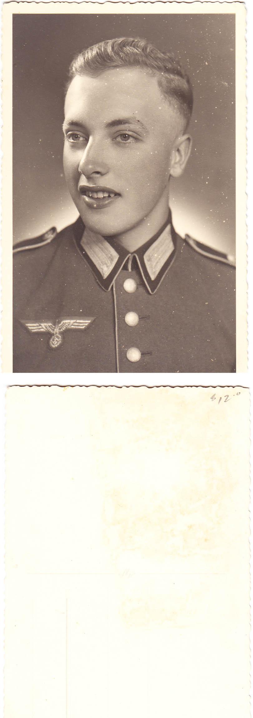 Army Solider Portrait Postcard