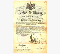 Imperial Promotion document with Kaiser Wilhelm II Signature