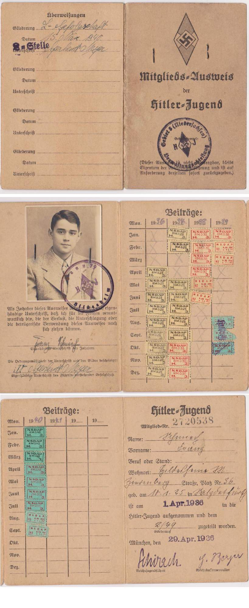 HJ Member ID book