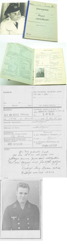 Fuhrungsbuch Service Record Hans-Berndt Rosch
