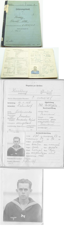 Fuhrungsbuch Service Record Edmund Kirchberg