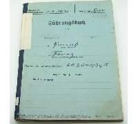 Fuhrungsbuch Service Record Franz Harrich