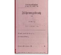 PreWar Red Fuhrungsbuch Service Record Heinrich Welsch