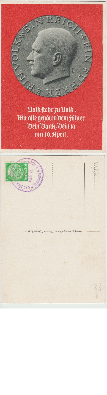 Ein Volk Ein Reich Ein Führer Postcard