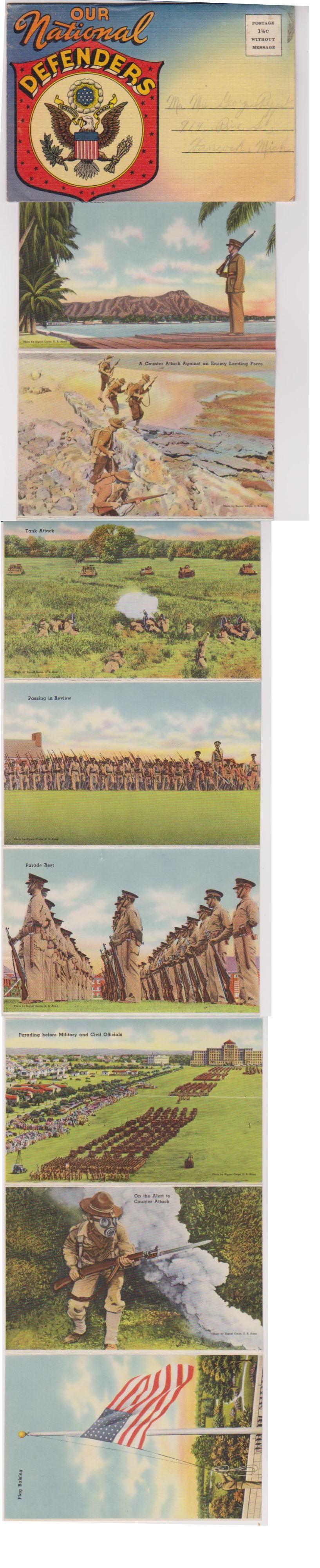 US Propaganda Postcard group