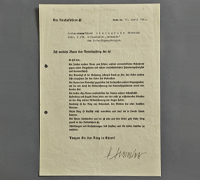 A Totenkopf Honor Ring Document