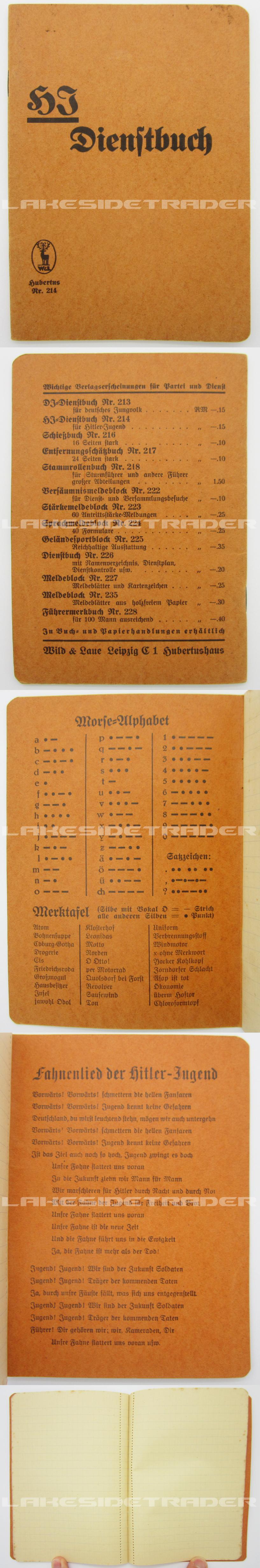 Hitler Youth Dienstbuch (Service Book)