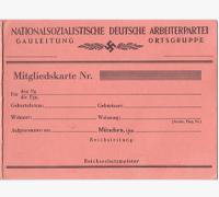 NSDAP Membership Card