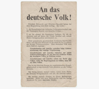 """""""An das deutsche Volk!""""? Propaganda Leaflet"""