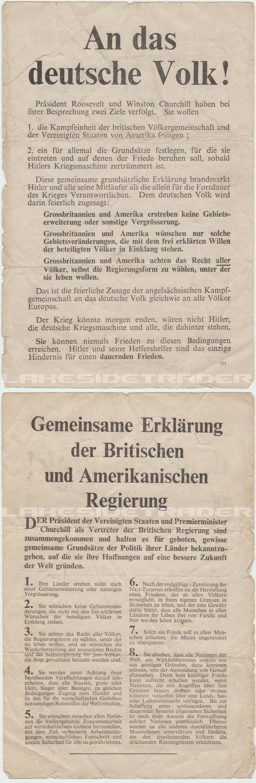 """""""An das deutsche Volk!"""" Propaganda Leaflet"""