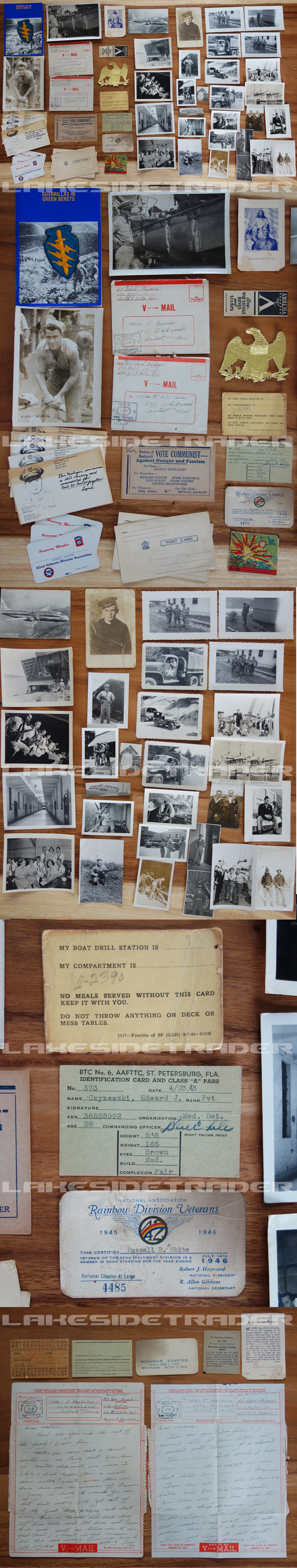 US - 52 piece Document / Photo Grouping