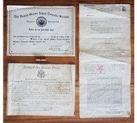 US - 4 pc Document and Medal Bar Group