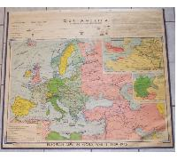 US School Study Map Of WWII Europe