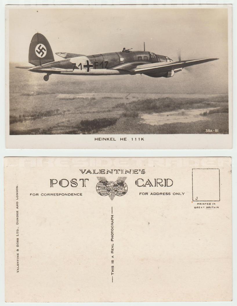 Heinkel He 111 Postcard
