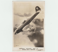 British Postcard of German Heinkel He. 112