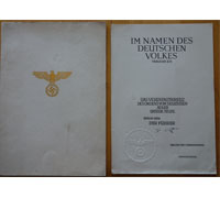 Unissued 1st Class Eagle Order Document in Folder