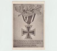 2nd Class Iron Cross Postcard 1939