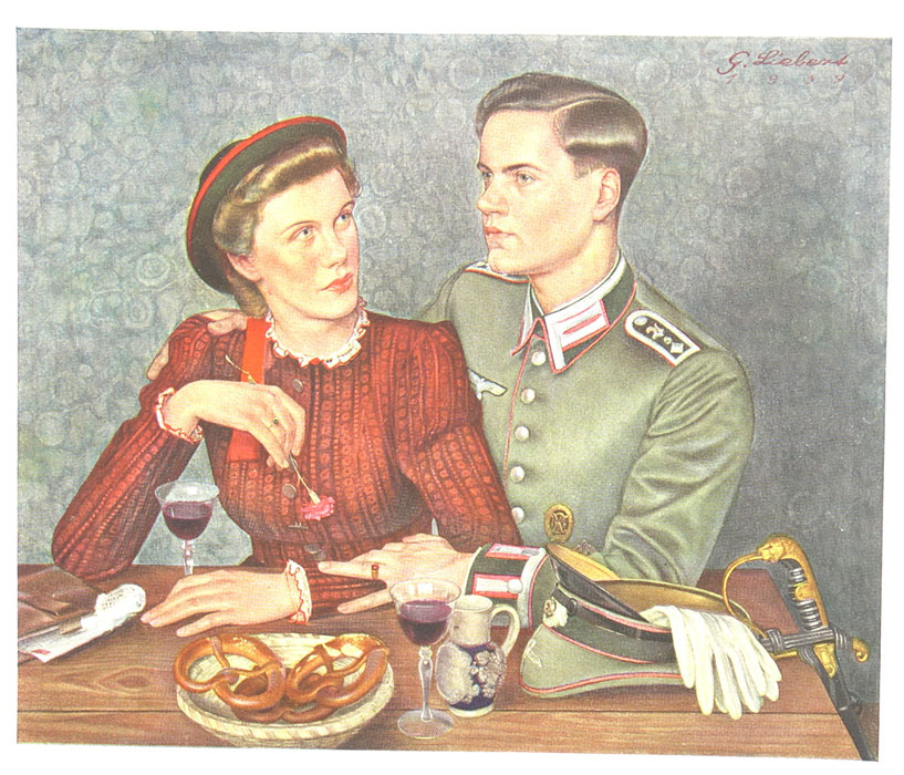 Artillery Officer and Wife Photo