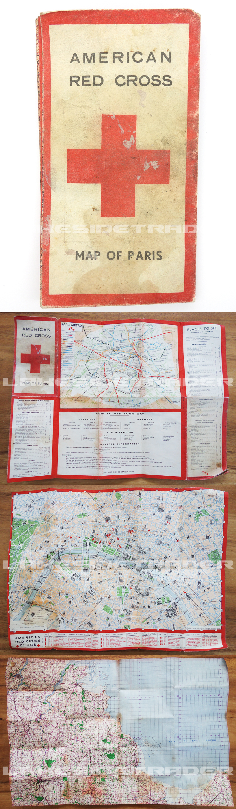 American Red Cross Map of Paris