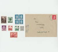 12 Stamps and Envelope