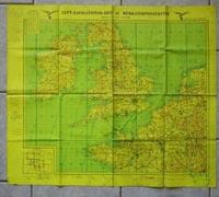 Luftwaffe Night Flight Navigation Map 1942