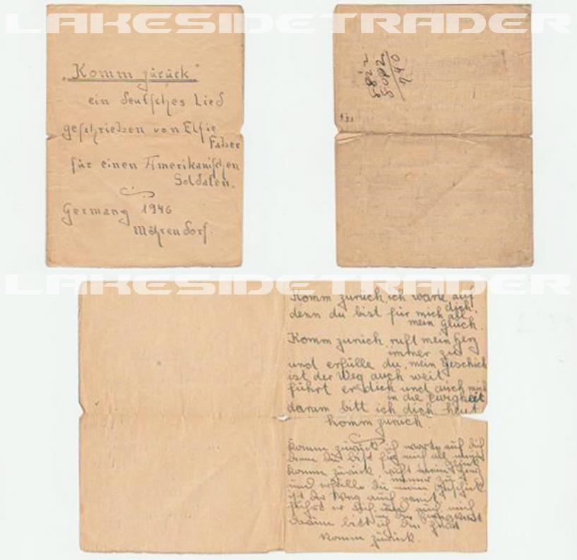 Handwritten Song by Elfie Faber