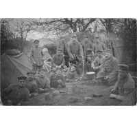 Postcard of WWI Infantry Soldiers