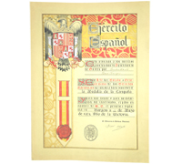 Spanish Civil War Campaign Medal Award Document