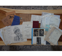 Document and Photo Grouping to Knights Cross Winner Ernst Orzegowski