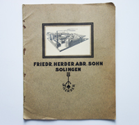 F. Herder Sales Catalog 1920s